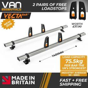 Iveco Daily Roof Rack(H1)Low Roof 2014 Onwards-2x Roof Bars Vecta Bars by Hubb