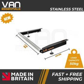 Vauxhall Vivaro 2002-2014  Low Roof H1- With Twin Rear Doors - Vecta Stainless Steel Roller