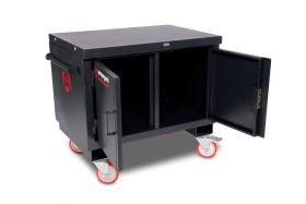 Armorgard Mobile Tuffbench BH1270M, multi purpose work surface with a heavy duty storage cabinet