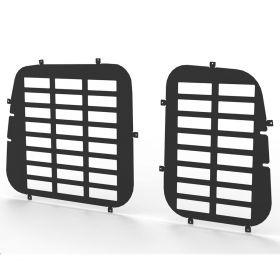 VW Caddy and Maxi 2004 Onwards Rear Door Window Guard Grilles in Black-PAIR