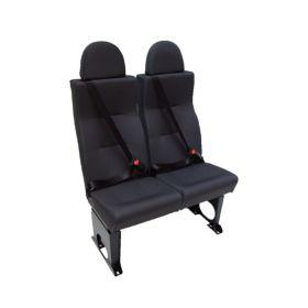 A double semi high back seat (M1 category) Alpha Seating, available in Vinyl, Ambla, Manufacturer Cloth or Moquette