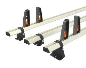 Ford Transit Custom Roof Rack High Roof 3x Roof Bars Vecta Bars by Hubb Systems