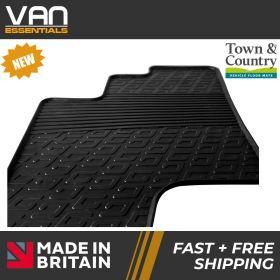 Pair of Front Rubber Mats - Volkswagen Crafter 2017 Onwards - Town & Country Tailored Fit Rubber Mats