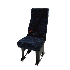 A single semi high back seat (M1 category) Alpha Seating, available in Vinyl, Ambla, Manufacturer Cloth or Moquette