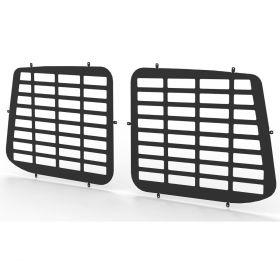 VW Transporter T5 and T6 all years Rear Door Window Guard Grilles in Black-PAIR
