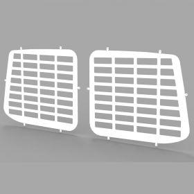 VW Transporter T5 and T6 all years Rear Door Window Guard Grilles in White-PAIR