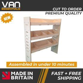 Mercedes Citan Van Racking - 2012 Onwards-3 Shelf Birchwood Plywood Shelving/Racking-External Size: (H)1087mm x (W)1000mm x (D)269mm.