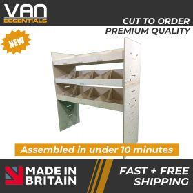Vauxhall Vivaro Van Racking-3 Shelf Birchwood Plywood Shelving/Racking-External Size: (W) 1000mm x (H) 1087mm x (D) 384mm.