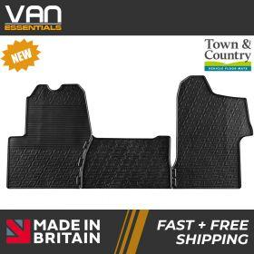 Pair of Front Rubber Mats - Nissan NV400 2nd Gen 2014 Onwards - Town & Country Tailored Fit Rubber Mats
