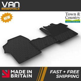 Pair of Front Rubber Mats - Citroen Dispatch 2016 Onwards - Town & Country Tailored Fit Rubber Mats