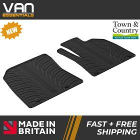 Pair of Front Rubber Mats - Peugeot Partner 01/09/2019 Onwards - Town & Country Tailored Fit Rubber Mats